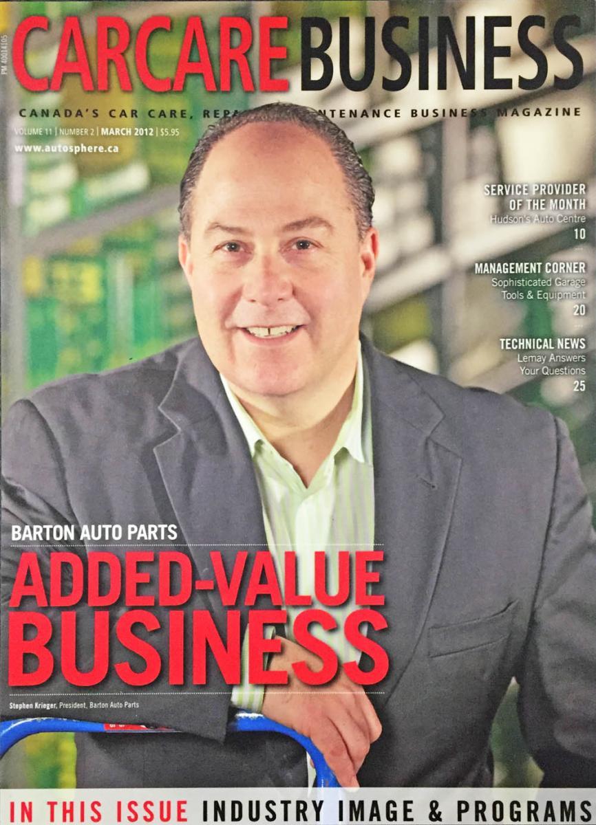 barton auto parts steven krieger car care business magazine cover